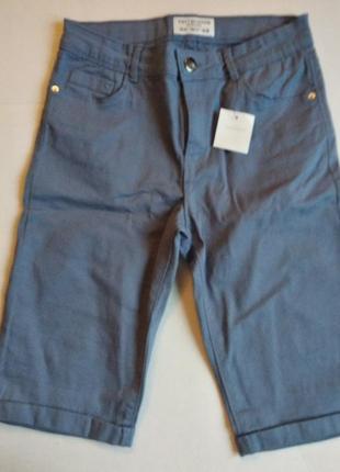 Капри terranova, бриджи джинсовый стиль, молодежная одежда