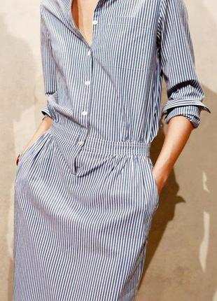 Лиловое платье рубашка хлопок и лен дорогого шведского бренда ...