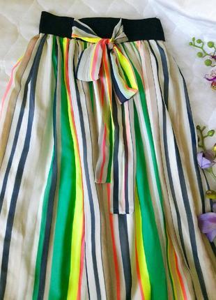 Красивая длинная шифоновая юбка в пол р.м-л