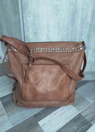 Вместительная кожаная сумка sienna