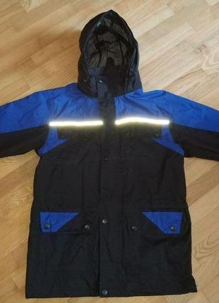 Подростковая мембранная куртка дождевик непромокаемая проклеен...