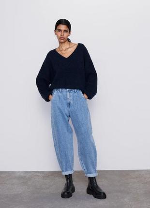 Новые джинсы zara slouchy объемные широкие джинсы zara джинсы ...