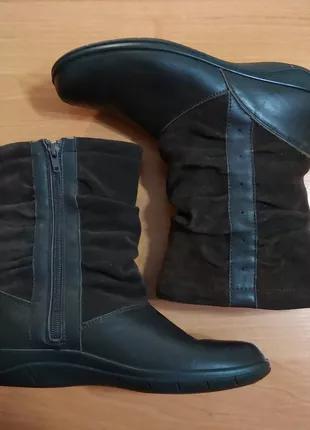 Сапоги женские Padders деми кожа+замш. 38 размер, 24,5 см