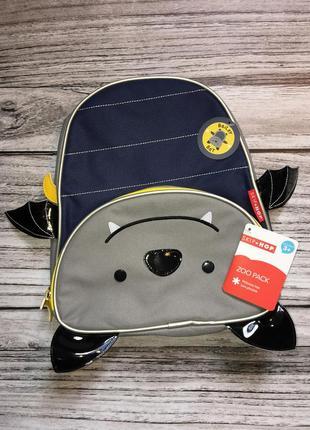 Новый рюкзак skip hop от 3-х лет. оригинал. летучая мышь. кажа...