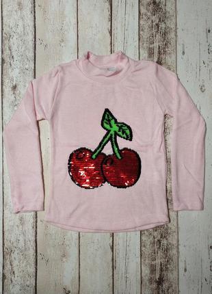 Водолазка для девочки ангора софт вишня