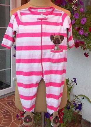 ( 6-12 месяцев 1 год ) флисовый комбинезон пижама кигуруми чел...
