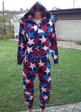 ( 11 - 12 лет) флисовый комбинезон пижама кигуруми унисекс