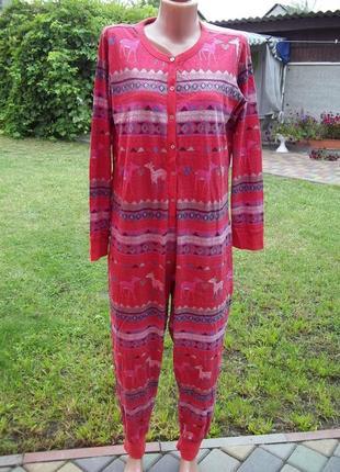 ( 48 / 50 р) next трикотажный комбинезон пижама кигуруми женский