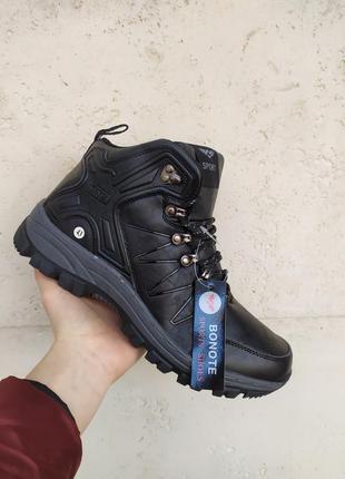 Последняя пара ! черные зимние кроссовки ботинки снегоходы