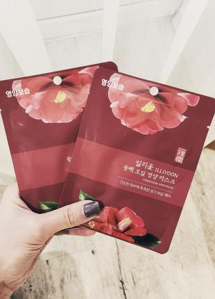 Тканевая маска illiyoon camellia oil nutrition mask