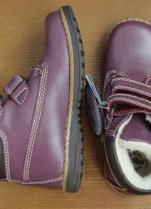Кожаные зимние ботинки primigi aspy, размеры 26 и 27 натуральн...