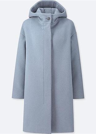Шерстяное пальто uniqlo, размер xs
