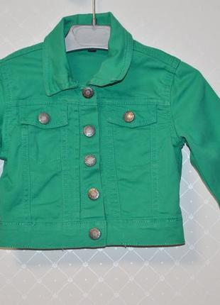 #розвантажуюсь укороченная джинсовая куртка на девочку 3-4 года