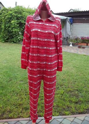 ( 44 р) coca cola комбинезон пижама кигуруми женский