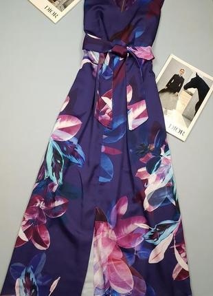 Длинное платье в цветочный принт closet p.10