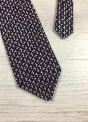 Красивый брендовый шелковый галстук tie rack made in italy! с ...