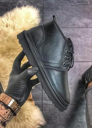 🖤ugg man classic short black🖤мужские зимние угги-ботинки с мех...