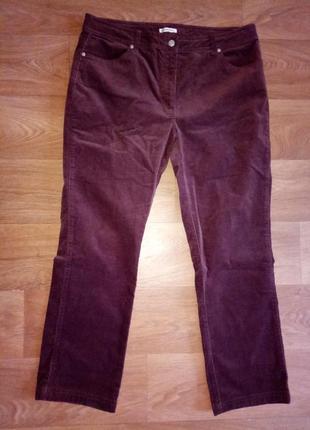 Красивые вельветовые брюки ,большие