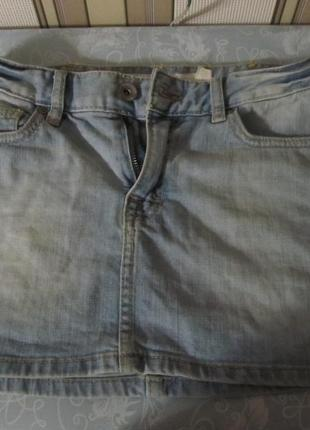 Бомбезная молодежная джинсовая юбка