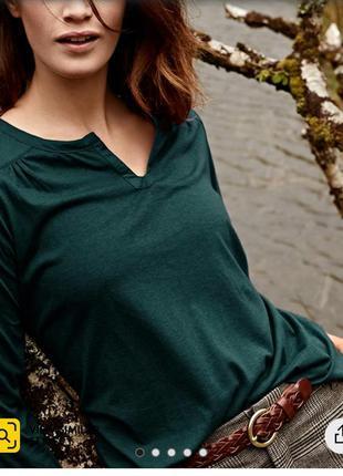 Tchibo блузка кофта женская изумрудного цвета