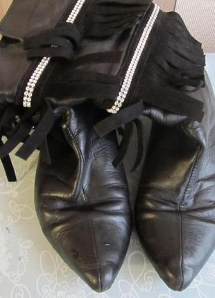 Очень удобные кожаные женские ботинки деми. обмен