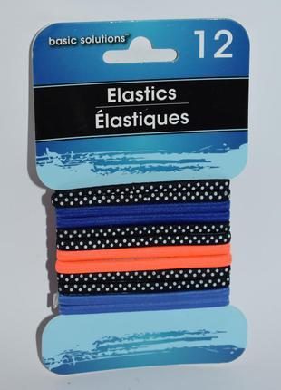 Новый набор 12 разноцветных резинок 4 цвета elastics basic sol...