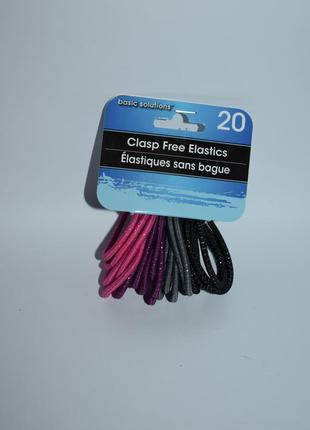 Новый набор разноцветных резинок 20 clasp free flate elastics ...
