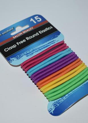 Набор резинок для волос basic solutions salon quality clasp fr...
