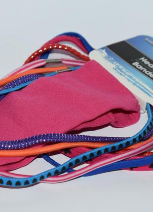 Новый набор 8 разноцветных ободков резинок basic solutions hea...