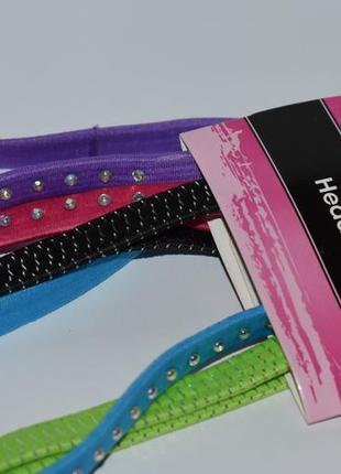 Новый набор 5 разноцветных ободков резинок basic solutions hea...