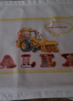 Именная наволочка для малыша с именем александр