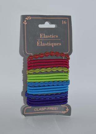 Набор резинок для волос 16 единиц basic solutions clasp free e...