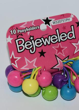 Новый набор 10 разноцветных резинок ponyholders bejeweled si c...
