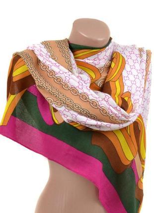 Женский теплый широкий шарф