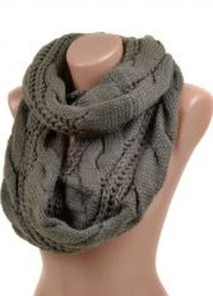 Женский теплый шарф-хомут.