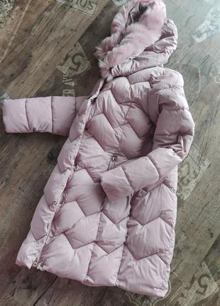 Пуховик длинный/куртка пальто