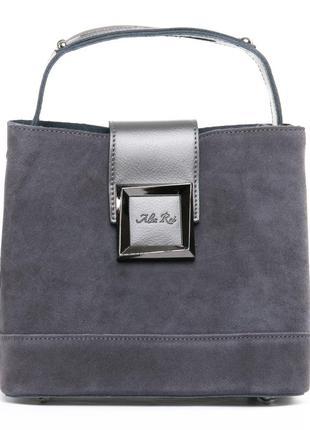 Замшевая классическая сумка