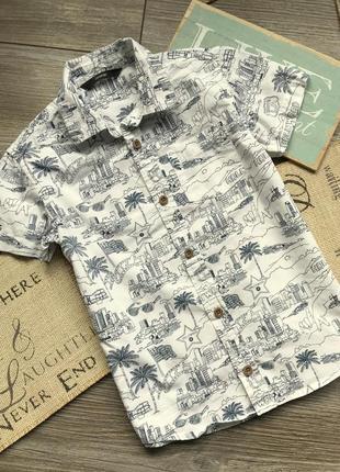 Рубашка с принтами george 6-7л