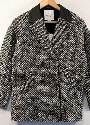 Стильное шерстяное подростковое пальто kookai, франция р 152, 158