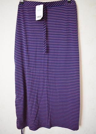 Новая трикотажная юбка в полоску большого размера