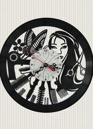 Часы настенные салон красоты Парикмахерская