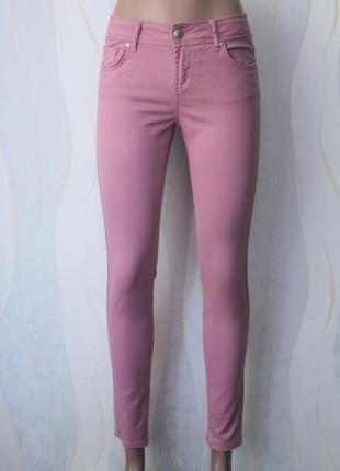 Цвет пепельная роза пудровые джинсы скинни от denim co