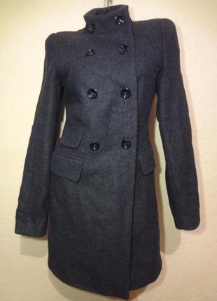 Шерстяное пальто zara размер м