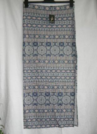 Трикотажная новая юбка макси