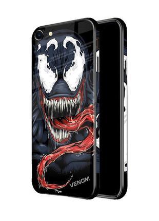 Чехол стеклянный VENOM для iPhone 7/7+/8/8+/X/Xr/XS/XS Max