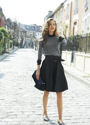 🌿  юбка актуальная черная миди  zara