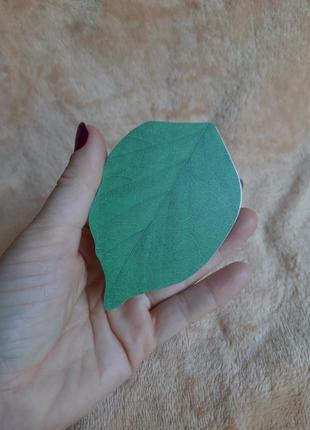 Боокнот отрывной для заметок листья стикеры наклейки зеленая э...