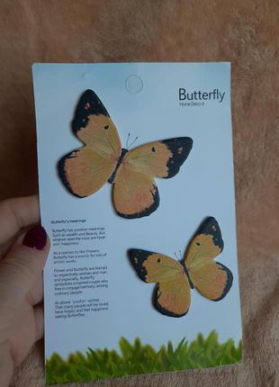 Боокнот отрывной для заметок бабочки набор стикеры наклейки эк...