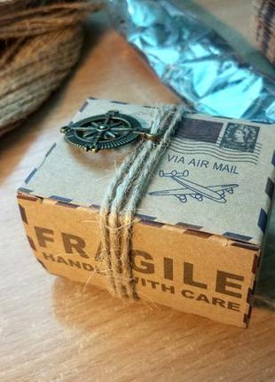 Бонбоньерки в стиле Travel, свадебные коробочки для подарков