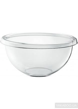 Салатник з кришкою, прозорий, пласт